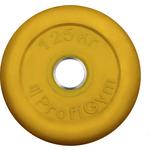Купить Диск ProfiGym обрезиненный d 26 мм жёлтый 1,25 кг купить недорого низкая цена