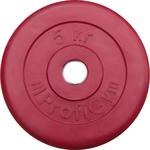 Купить Диск ProfiGym обрезиненный d 26 мм красный 5,0 кг купить недорого низкая цена
