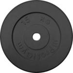 Купить Диск обрезиненный ProfiGym 26 мм. черный. 15 кг купить недорого низкая цена