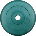 Купить Диск обрезиненный ProfiGym d 31 мм зелёный 10,0 кг купить недорого низкая цена