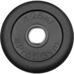 Купить Диск ProfiGym обрезиненный d 31 мм чёрный 1,25 кг купить недорого низкая цена