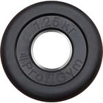 Купить Диск ProfiGym обрезиненный d 51 мм чёрный 1,25 кг купить недорого низкая цена