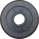 Купить Диск ProfiGym обрезиненный d 51 мм чёрный 5,0 кг купить недорого низкая цена