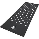 Купить Тренировочный коврик Reebok RAMT-12235BK (фитнес-мат) Белые Пятна 7 мм черный купить недорого низкая цена