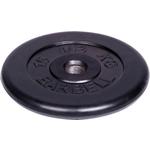 Купить Диск MB Barbell обрезиненный d 51 мм черный 15,0 кг купить недорого низкая цена