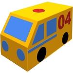 Купить Мягкий игровой элемент Romana Фургон Газовая служба ДМФ-МК-01.23.05технические характеристики фото габариты размеры
