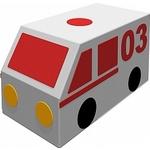 Купить Мягкий игровой модуль Romana Фургон Скорая помощь ДМФ-МК-01.23.04 отзывы покупателей специалистов владельцев