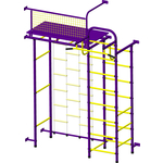 Купить Детский спортивный комплекс Пионер 10ЛМ пурпурно/желтый купить недорого низкая цена