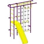 Купить Детский спортивный комплекс Пионер 11СМ пурпурно/желтый отзывы покупателей специалистов владельцев
