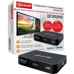 Тюнер DVB-T2 D-Color DC802HD