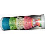 Купить Волан для бадминтона HS-004 пластиковый 4 шт купить недорого низкая цена