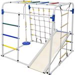 Купить Детский спортивный комплекс Формула здоровья Start baby 1 Плюс белый-радугатехнические характеристики фото габариты размеры