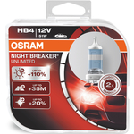 Галогенные лампы Osram HB4 NIGHT BREAKER UNLIMITED, 12V, 51W, 2 шт, 9006NBU-HCB