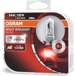 Галогенные лампы Osram H4 NIGHT BREAKER SILVER, 12V, 60/55W, 2 шт, 64193NBS-HCB