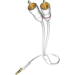 Кабель межблочный Inakustik Star MP3 Audio Cable, 3.5 Phone 2RCA, 1.5 m, 003100015