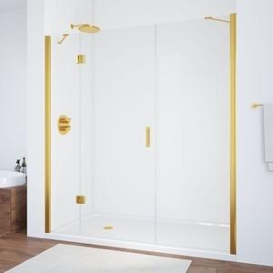 цена на Душевая дверь Vegas Glass AFP-F 210 прозрачная, золото, левая (AFP-F 210 09 01 L)