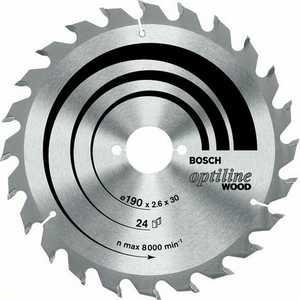Диск пильный Bosch 160х20мм 24зуба Optiline Wood (2.608.640.596)