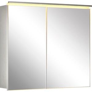 Зеркальный шкаф De Aqua Алюминиум 90 (AL 505 090 S)