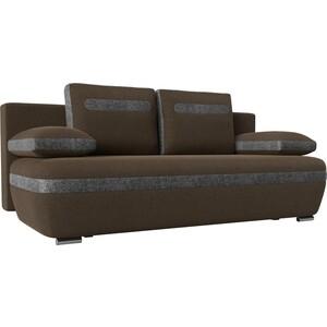 Прямой диван Лига Диванов Каир рогожка коричневый вставка серая дешевые авиабилеты в каир