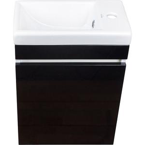 цены на Тумба с раковиной Style line Compact Люкс 40 черная (2000949096056, S-UM-COM40/1-w) в интернет-магазинах