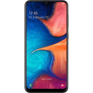 Смартфон Samsung Galaxy A20 (2019) 3/32GB Black смартфон samsung galaxy a5 2016 4g 16gb black