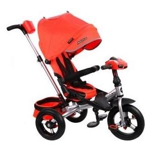 Велосипед трехколесный Moby Kids New Leader 360 12x10 AIR Car, красный (641209)