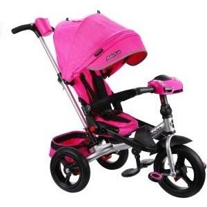 Велосипед трехколесный Moby Kids New Leader 360 12x10 AIR Car, розовый (641213)