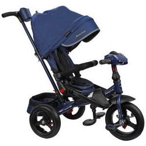 Велосипед трехколесный Moby Kids New Leader 360 12x10 AIR Car, темно-синий (641210)