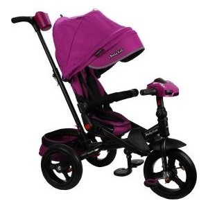 Велосипед трехколесный Moby Kids New Leader 360 12x10 AIR Car, ягодно-пурпурный (641212)