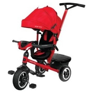 Велосипед трехколесный Moby Kids Rider 360, 10x8 AIR Car, красный (641206) цена