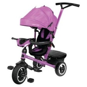 Велосипед трехколесный Moby Kids Rider 360, 10x8 AIR Car, фиолетовый (641208)