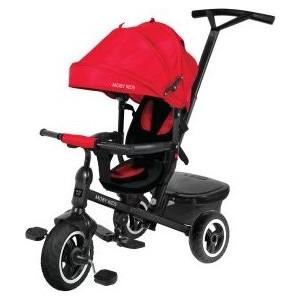 Велосипед трехколесный Moby Kids Rider 360, 10x8 AIR, красный (641203)
