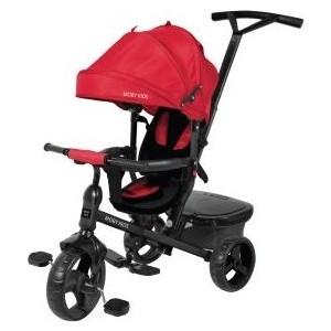 Велосипед трехколесный Moby Kids Rider 360, 10x8 EVA, красный (641200) цена
