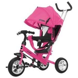 Велосипед трехколесный Moby Kids Start 10x8 EVA, розовый (641217)