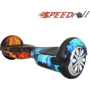 Гироскутер SpeedRoll Premium Smart LED NEW Красно-синий огонь гироскутер speedroll premium smart led 01lapp с самобалансировкой red