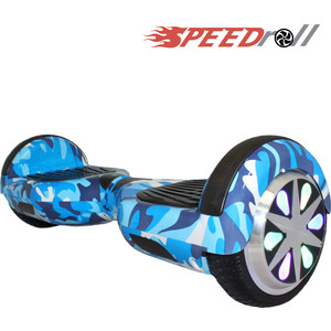 Гироскутер SpeedRoll Premium Smart LED NEW Синий камуфляж гироскутер carcam smart balance 10 5 military