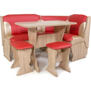 Набор мебели для кухни Бител Орхидея-комби (дуб сонома, терра эффект-112 + С-101 ) фото