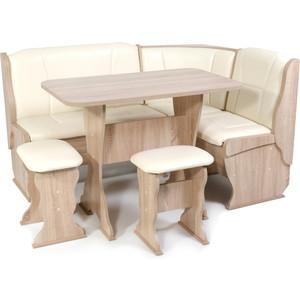 Набор мебели для кухни Бител Орхидея -однотонный (дуб сонома, Борнео крем)