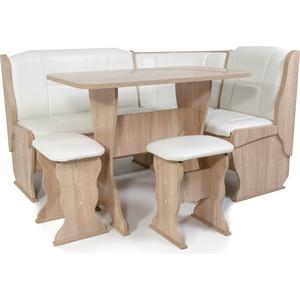 Набор мебели для кухни Бител Орхидея -однотонный (дуб сонома, Борнео милк)
