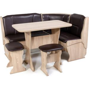 Набор мебели для кухни Бител Орхидея -однотонный (дуб сонома, Борнео умбер) набор мебели для кухни бител орхидея однотонный венге борнео умбер венге