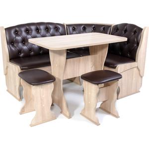 Набор мебели для кухни Бител Орхидея -люкс (дуб сонома, Борнео умбер)