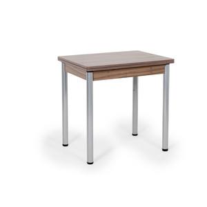 Стол раскладной Бител Ирис (шимо ясень темный, серебро)