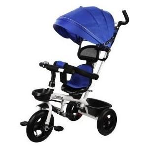 Велосипед трехколесный Наша Игрушка Новый Старт 360, 10*8 AIR, синий (641231)
