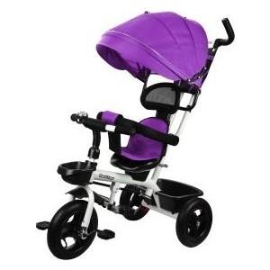 Велосипед трехколесный Наша Игрушка Новый Старт 360, 10*8 AIR, фиолетовый (641232) трехколесный велосипед techteam 950d фиолетовый techteam