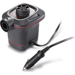 Насос электрический Intex 66636 Quick-Fill 12В от прикуривателя (3 насадки в комплекте) цена