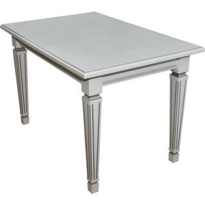Стол обеденный Мебелик Васко 03 раздвижной белый/патина 150/200x80