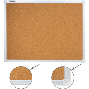 Доска пробковая BRAUBERG 231711 алюминиевая рамка, для объявлений 45x60