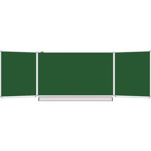 Доска магнитная BRAUBERG 231707 3-х элементная, 5 рабочих поверхностей, зеленая для мела 100x150/300 доска магнитно маркерная brauberg 100x150 300 см 3 х элементная белая 231708