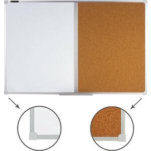 Доска комбинированная BRAUBERG 236864 магнитно-маркерная, пробковая д/объявлений 60x90