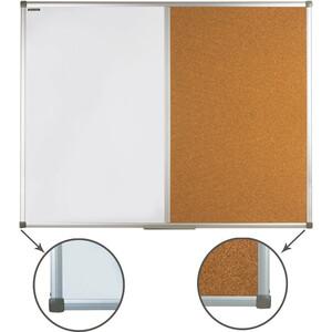 Доска комбинированная BRAUBERG 236865 магнитно-маркерная, пробковая д/объявлений 90x120